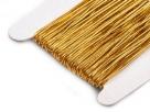 0,5 m Gummiband Stärke 1 mm - gold