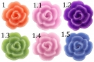 5 Stück Resin Rose Beads ca. 10x4,5 mm - shiny