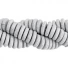 #K02 - 10 Stck. Griechische Keramik ca. 8x2,2 mm - stonewash - lt cool grey