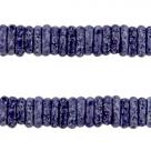 #K04 - 10 Stck. Griechische Keramik ca. 8x2,2 mm - stonewash - indigo blue
