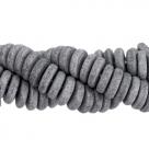 #K01 - 10 Stck. Griechische Keramik ca. 8x2,2 mm - stonewash - antracite grey