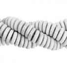 #03 - 10 Stck. Griechische Keramik ca. 8x2,2 mm - stonewash - grey