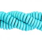 #05- 10 Stck. Griechische Keramik ca. 8x2,2 mm - stonewash - aqua blue