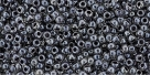 10 g TOHO Seed Beads 11/0 TR-11-1064 - Inside-Color Crystal/Concord Grape Lined (E)