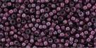 10 g TOHO Seed Beads 11/0 TR-11-1075 - Inside-Color Crystal/Berry Wine Lined (E)