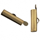 #15.00 - Bandverschluss (Slider Tube) - 15,5x4 mm antik bronze