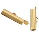 #15.01 - Bandverschluss (Slider Tube) - 15,5x4 mm goldfarben