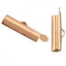 #15.02 - Bandverschluss (Slider Tube) - 15,5x4mm rosé goldfarben