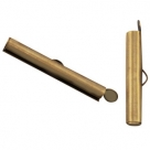 #16.00 - Bandverschluss (Slider Tube) - ca. 25,5 x 4 mm antik bronze