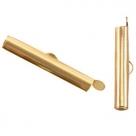 #16.01 - Bandverschluss (Slider Tube) - ca. 25,5 x 4 mm goldfarben