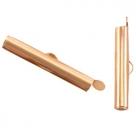 #16.02- Bandverschluss (Slider Tube) - ca. 25,5 x 4 mm rosé goldfarben
