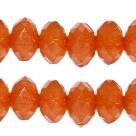 25 Stück facetierte Acryperlen 6x4 mm - opal mandarin orange