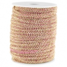 0,5 m Fashion Wire flach 5mm lt fuchsia-gold