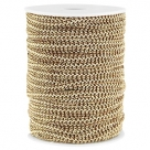 0,5 m Fashion Wire flach 5mm braun-gold