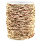 0,5 m Fashion Wire flach 5mm dkl. rot-gold