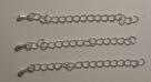 1 Stück Verlängerungsette mit Tropfen, Länge: 70mm, Ø ± 4x3mm, versilbert