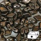 #01.02 - 25 Stück Diamonduo 5x8 mm - opak jet dark copper metallic