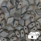 #03.00 - 25 Stück Diamonduo 5x8 mm - alabaster pastel matt grey