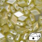 #04.02 - 25 Stück Diamonduo 5x8 mm - alabaster pastel dark cream