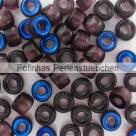 #03.01 - 25 Stück Roller Beads 6x4 mm - dk. amethyst azuro