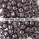 #02.00 - 25 St�ck Roller Beads 6x4 mm - smoky topaz/lazure blue