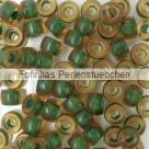 #01.01 - 25 Stück Roller Beads 6x4 mm - topaz/green lined