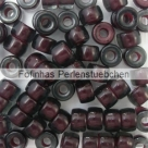 #06.01 - 25 Stück Roller Beads 6x4 mm - montana red lined