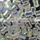 #01.01 25 Stck. 6x8 mm 2 Hole CoCo Bead horizontal - Crystal AB