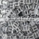 #01.00 25 Stck. 6x8 mm 2-Hole CoCo Bead vertical - Crystal