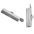 #15.03 - Bandverschluss (Slider Tube) - 15,5x4 mm antik silberfarben