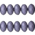 25 Stück facetierte Acryperlen 6x4 mm - purple haze blue