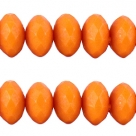 25 Stück facetierte Acryperlen 6x4 mm - russet orange