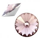 1 Stück Rivoli 12 mm (1122) - crystal greige grau