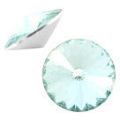 1 Stück Rivoli 12 mm (1122) - crystal lt azore blue
