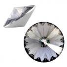 1 Stück Rivoli 12 mm (1122) - crystal steel grey