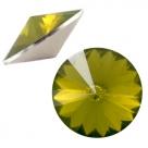 1 Stück Rivoli 12 mm (1122) - opal khaki