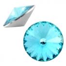 1 Stück Rivoli 12 mm (1122) - crystal aqua
