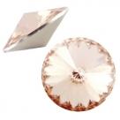 1 Stück Rivoli 12 mm (1122) - crystal lt peach