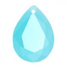 1 Tropfen facetiert 18x13x7mm (LxBxH) - opal blue turquoise