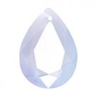 1 Tropfen facetiert 18x13x7mm (LxBxH) - opal air blue (lavender opal/klar)