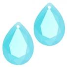 1 Tropfen facetiert 14x10x6mm (LxBxH) - opal blue turquoise