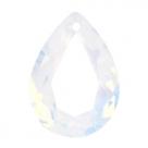 1 Tropfen facetiert 18x13x7mm (LxBxH) - opal white