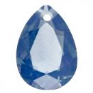 1 Tropfen facetiert 25x18x11mm (LxBxH) - opal montana blue