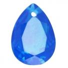 1 Tropfen facetiert 25x18x11mm (LxBxH) - dk capri blue