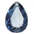 1 Tropfen facetiert 25x18x11mm (LxBxH) - montana blue