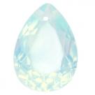 1 Tropfen facetiert 25x18x11mm (LxBxH) - opal lt blue turquoise