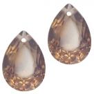 1 Tropfen facetiert 14x10x7mm (LxBxH) - opal greige