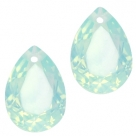 1 Tropfen facetiert 14x10x7mm (LxBxH) - opal lt green turquoise