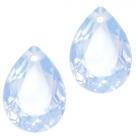 1 Tropfen facetiert 14x10x7mm (LxBxH) - opal lt sapphire