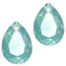 1 Tropfen facetiert 14x10x7mm (LxBxH) - opal turmaline